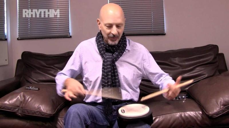 Steve Smith shows Rhythm magazine some chops