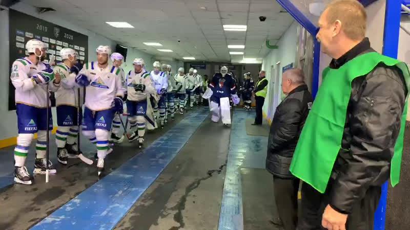 Раскатка перед матчем с «Салаватом Юлаевым»