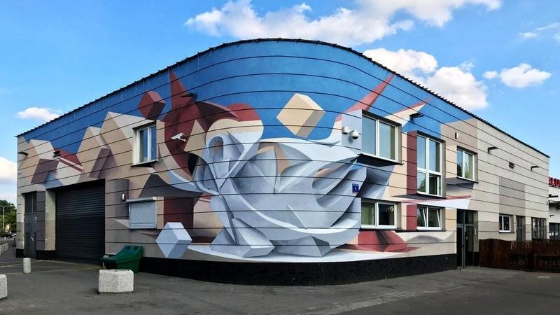 Трёхмерные фрески и уличное искусство Peeta ( Мануэля Ди Риты)