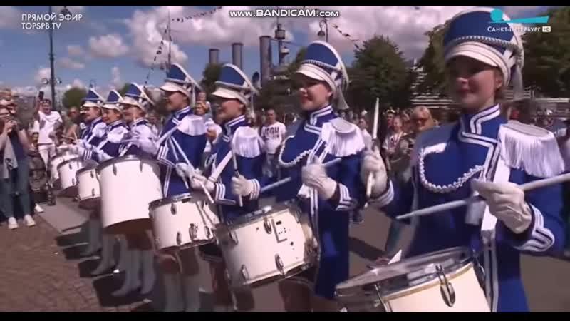 День ВМФ 2020 при участии Шоу группы барабанщиц МАЛАЯ ОХТА