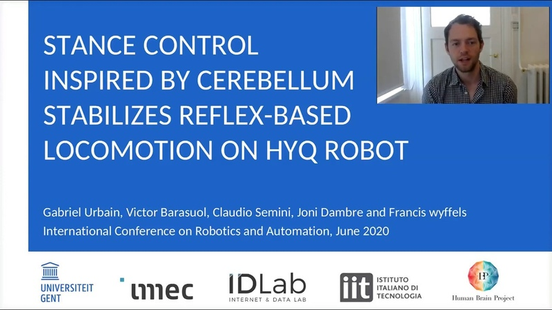 [ICRA20 Presentation] Stance Control Inspired by Cerebellum Stabilizes Reflex-Based Locomotion