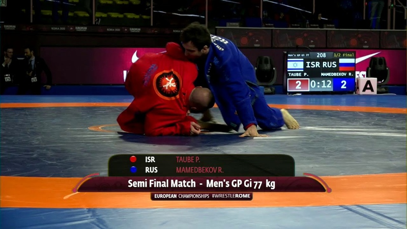 1 2 Men's GP Gi 77 kg P TAUBE ISR v R MAMEDBEKOV RUS