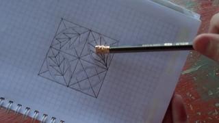 Геометрическая резьба по дереву. Рисуем узор к уроку 8 и 9. (geometric wood carving)
