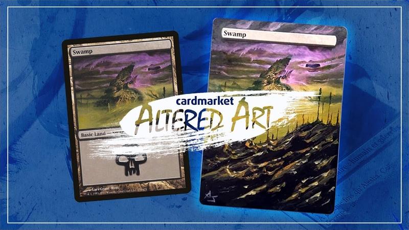 Altered Art - Phyrexian Swamp