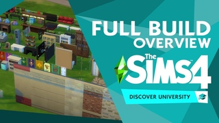 The Sims 4 Discover University: NEW Lot Options + FULL Build Items Overview!