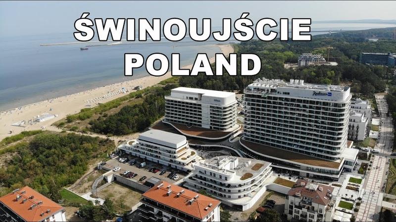 Świnoujście 2019 z lotu ptaka Świnoujście Poland by drone