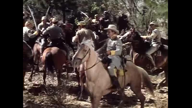 Атака кавалерии конфедератов на мятежников в болоте (Корни (1948)