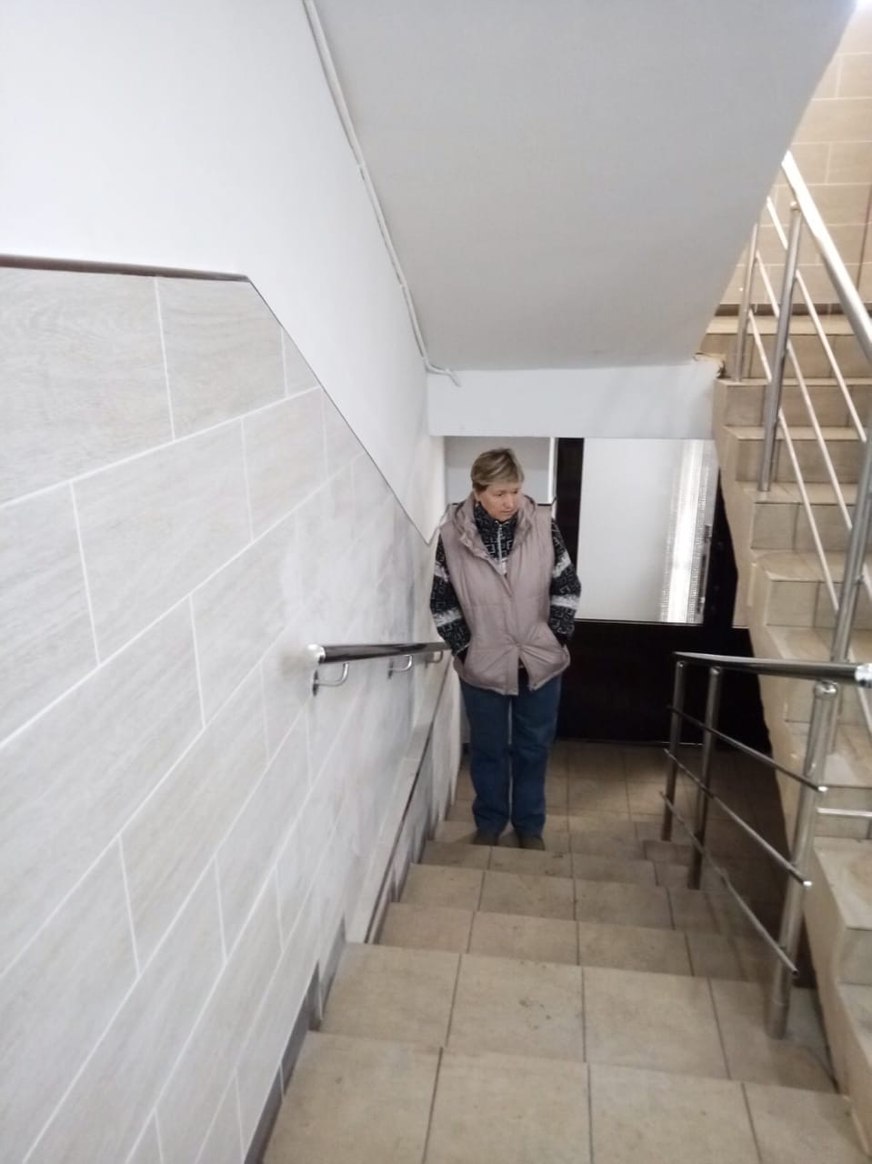 Приемка декоративного ремонта подъезда с советом дома