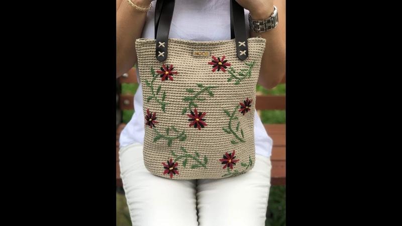 Hướng dẫn móc túi xách thêu hoa Vintage