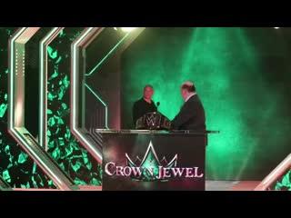 Стердаун кейна веласкеса и брока леснара перед шоу wwe.
