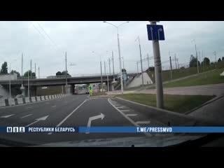 Погоня за водителем в Минске