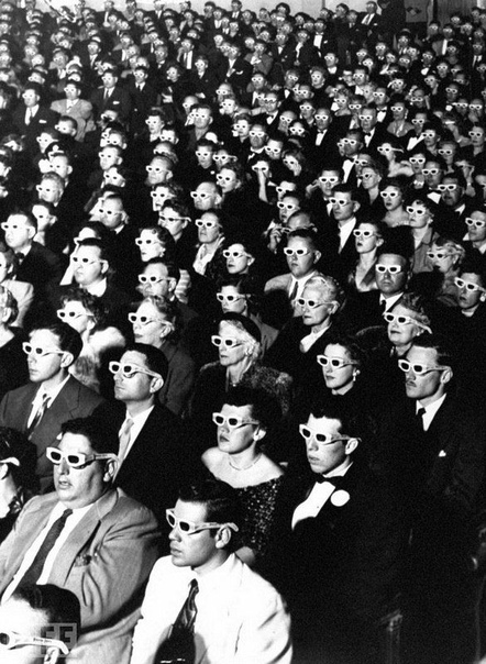 3D Movie Audience. Photo by J.R. Eyerman, 1952.