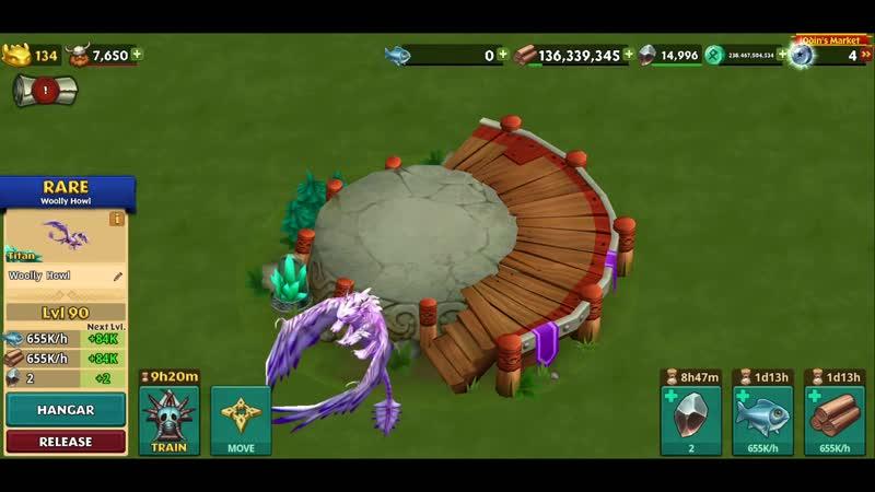 Woolly Howl Max Level 134 Titan Mode Dragons Rise of Berk