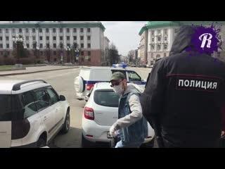 Задержание активиста, требующего отставки Ивана Гущина