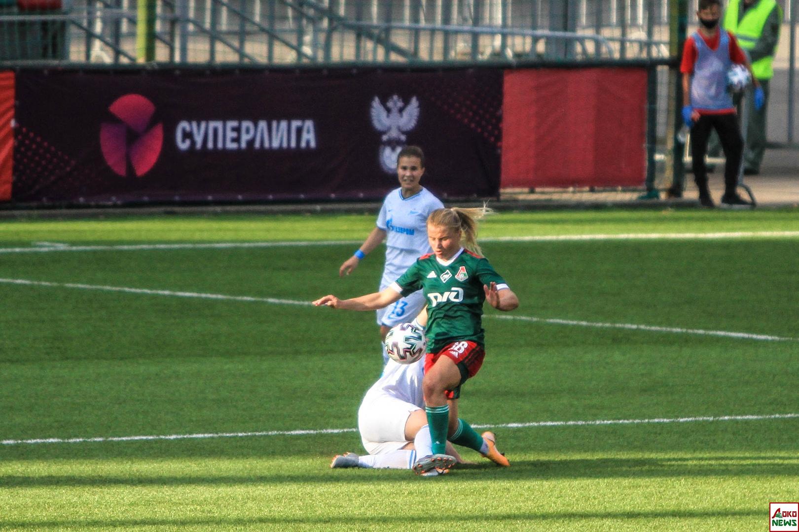 ЖФК Локомотив - ЖФК Зенит. Фото: Дмитрий Бурдонов / Loko.News