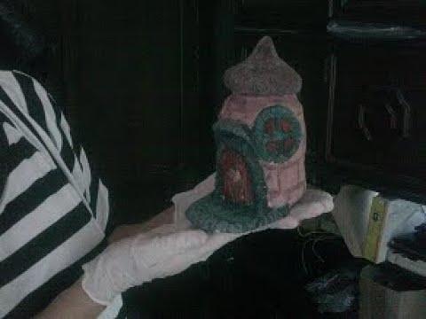 Artesanato com cimento Casinha de mini Jardim Passo a Passo