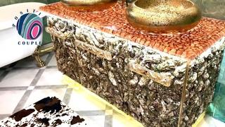 Golden Dresser for Bathroom of Epoxy and Oysters with lighting! Золотой комод из устриц и эпоксидки!