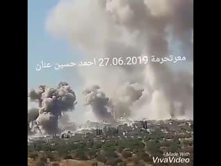 Удары ВКС РФ и ВВС САР по позициям боевиков в провинции Идлиб