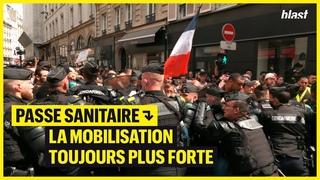 PASSE SANITAIRE : LA MOBILISATION TOUJOURS PLUS FORTE