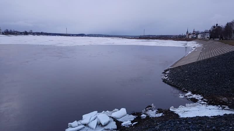 г.Великий Устюг, река Сухона , 5 апреля 2020 г - 17 ч 00м
