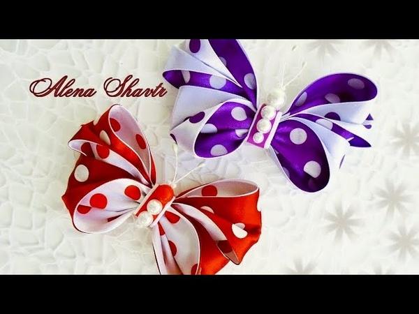 Бантик бабочка из атласной ленты🎀МК🎀Laço de fita🎀Ribbon bow