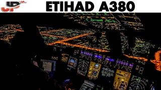 Super Smooth Landing ETIHAD A380 in Abu Dhabi