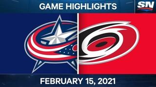 NHL Game Highlights   Blue Jackets vs. Hurricanes - Feb. 15, 2021