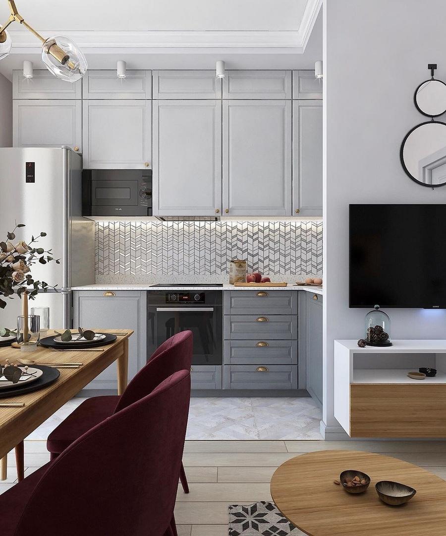 7 проектов от профи, как оформить дизайн кухни-гостиной площадью 12 м2, изображение №2