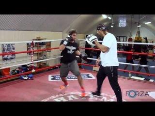 Spencer Matthews Boxing Lesson From David Haye