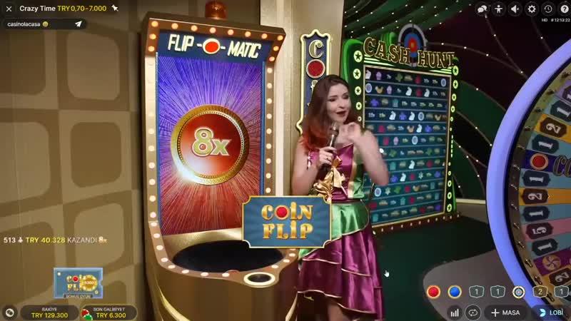 Casino Sarayi - CRAZY TİME I CANLI YAYINDA 25 X İLE COİN FLİP GİRDİK CRAZY VURGUNA BAK !