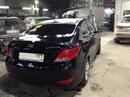 Наши работы по Hyundai Solaris : Кузовной ремонт по заднему правому крылу с покраской. Покраска заднего левого крыла и заднего бампера латкой.