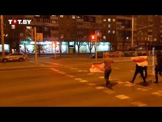 Акция солидарности в Серебрянке вечером 11 марта