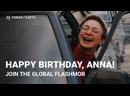 Happy birthday, Anna! Join the global flashmob