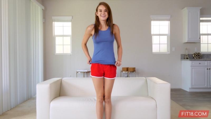 Ellie Eilish - Fit18 - Initial Casting ## POV brunette teen flexible yoga pants blowjob sex porn