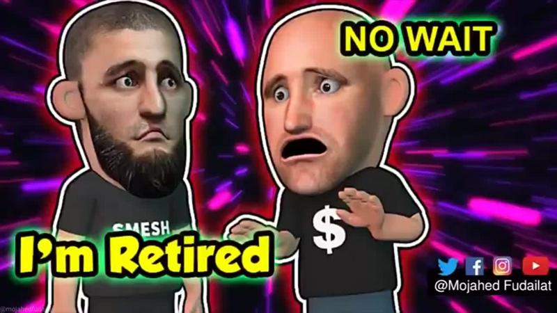 Khamzat Retires Dana in panic mode