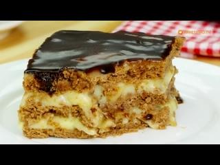 Угощайтесь! Вкусный и быстрый Банановый торт с печеньем - всего за 15 минут! _
