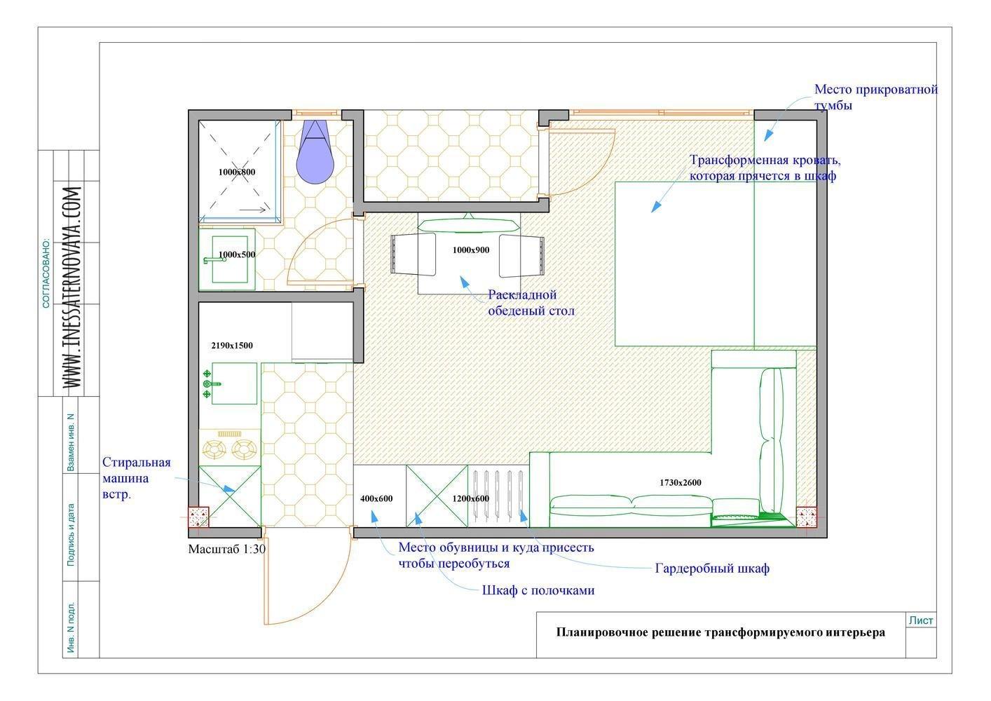 Концепт маленькой курортной студии 22 м.