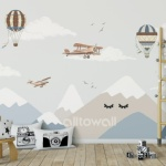 Скандинавские горы и самолёты