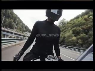 Авария девушки блогера на мотоцикле