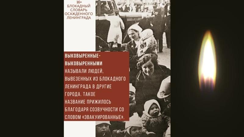 Видео блокадный словарь осажденного Ленинграда