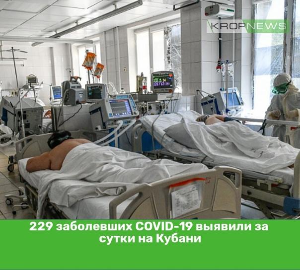 229 заболевших COVID-19 выявили за сутки на Кубани...
