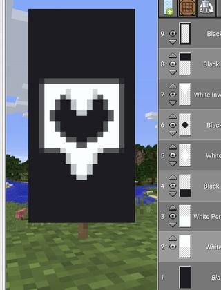 как сделать рисунок на флаге в майнкрафте #7