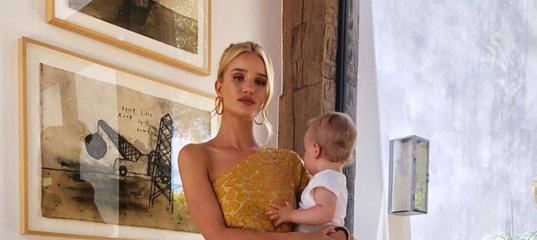 «Вещи сидят на мне не так, как до рождения ребенка, но это нормально»: Рози Хантингтон-Уайтли о прин