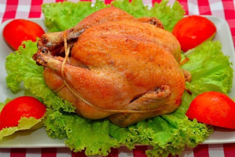 Курица, запеченная в духовке в овощами