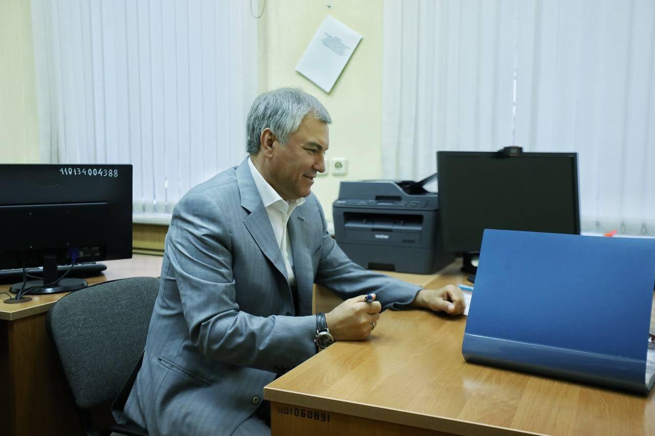 Спикер Госдумы Вячеслав Володин подал документы для участия в выборах по одномандатному округу в Саратовской области