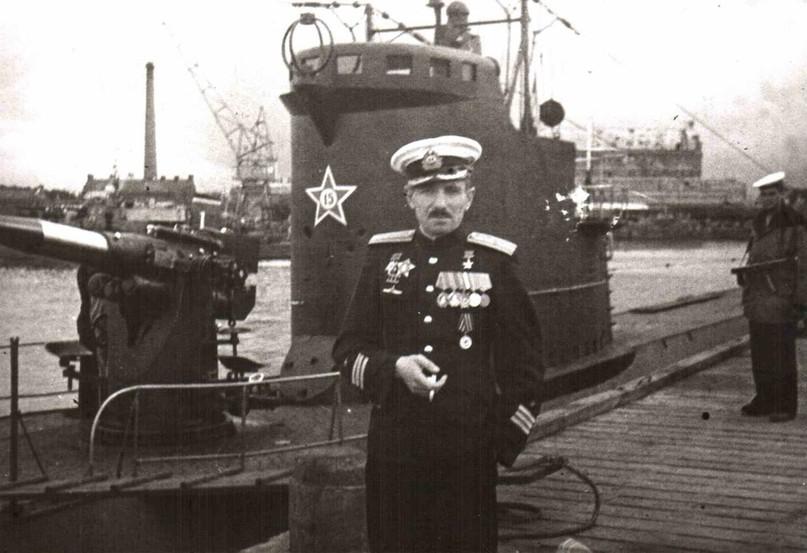 Коновалов В.К., командир ПЛ «Л-3», Герой Советского Союза, 1945 год.