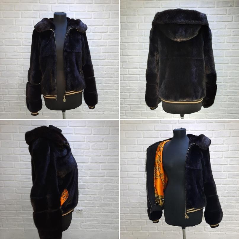 Была шубка из норки длинная, стала куртка бомбер удобная и очень практичная