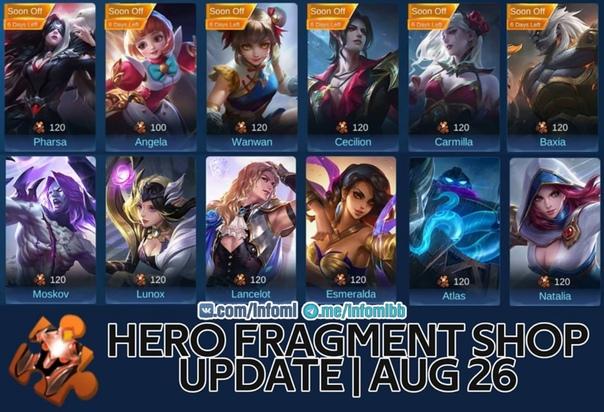 Обновление Магазина Фрагментов Mobile Legends 2021