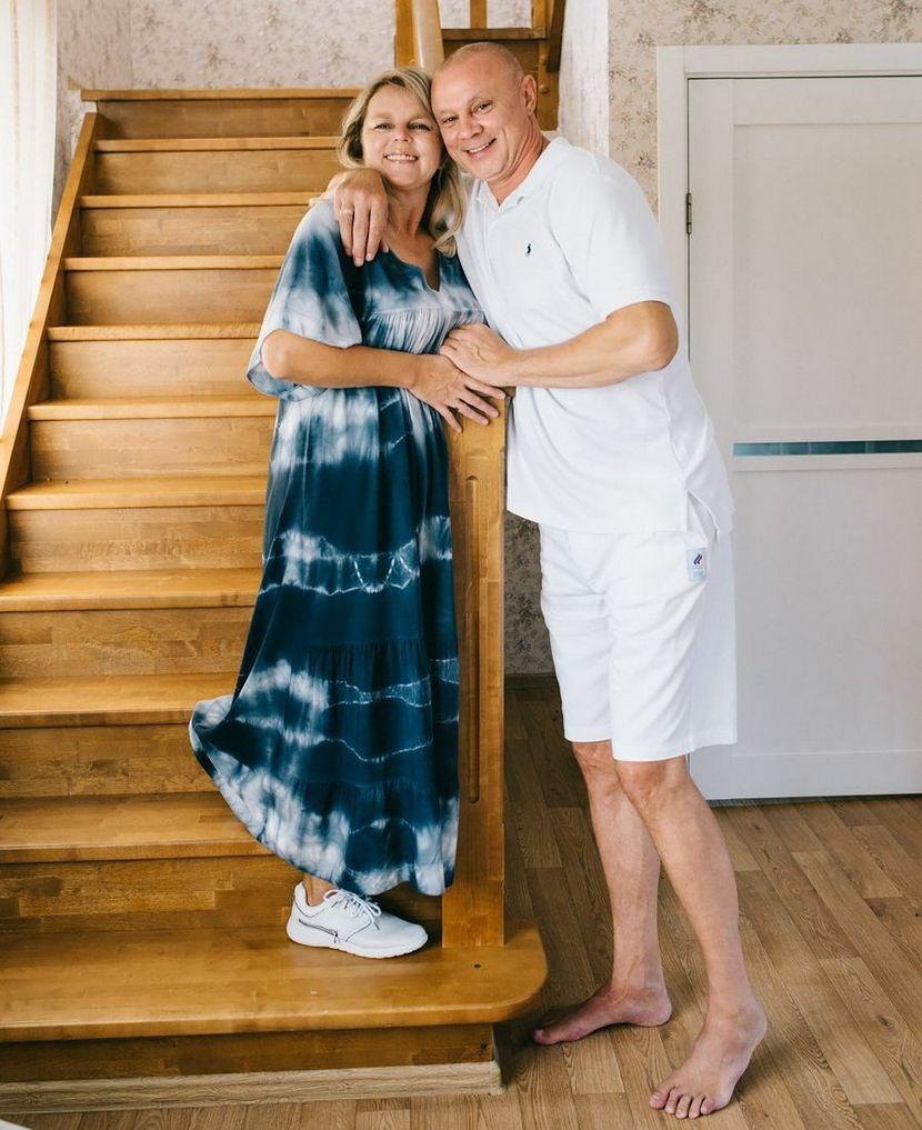 С супругой Велиной