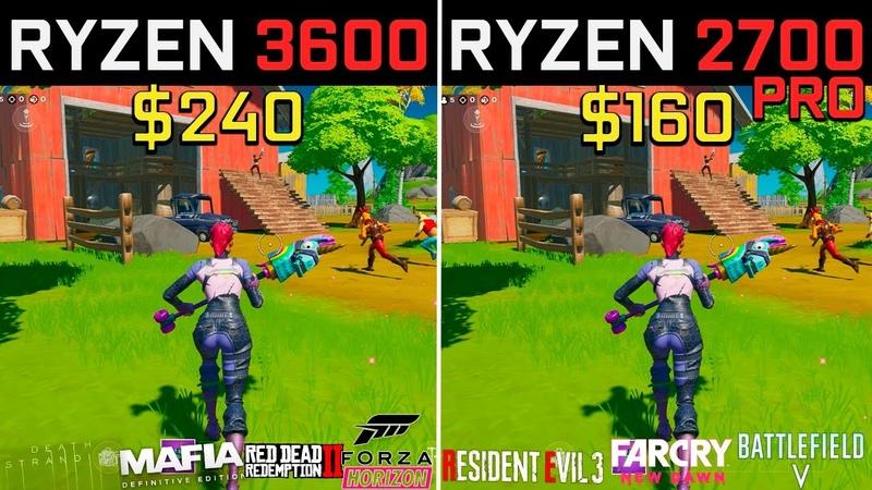Ryzen 5 3600 vs Ryzen 7 2700 PRO Test in 9 games